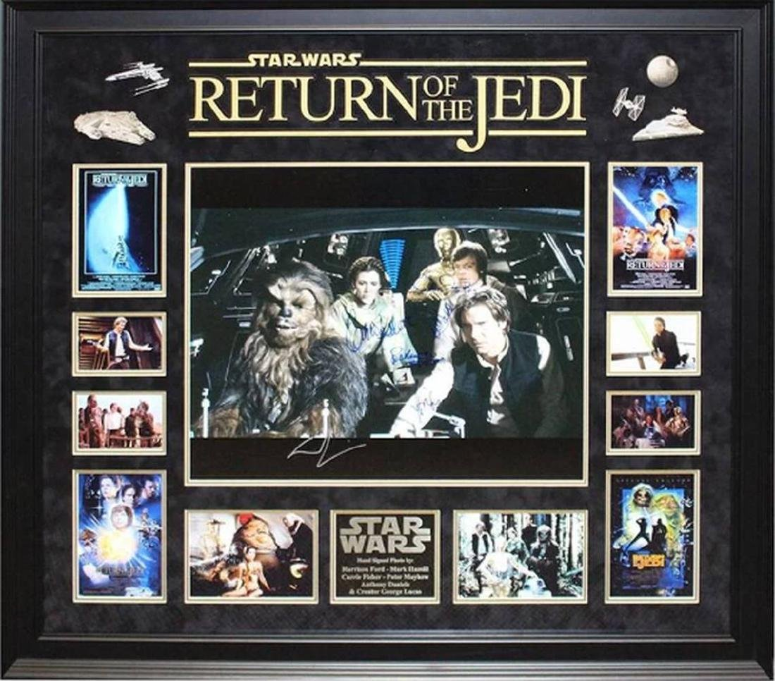 Star Wars Return of the Jedi - Signed Collage Poster