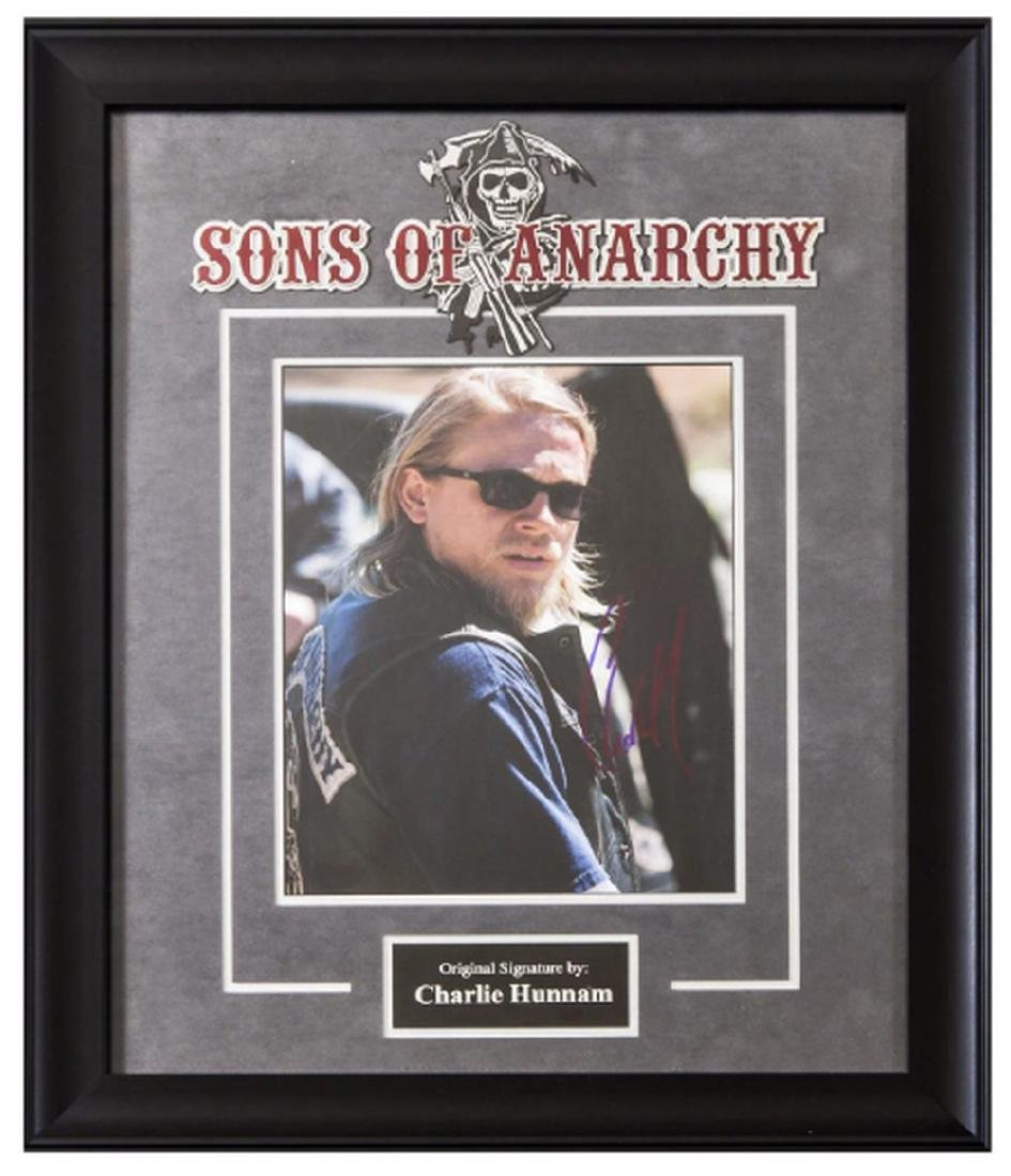 Sons of Anarchy Signed by Charlie Hunnam Movie Poster