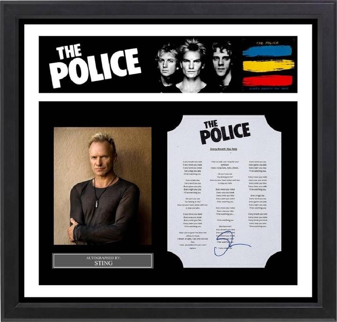 Police Every Breath You Take Signed Lyrics