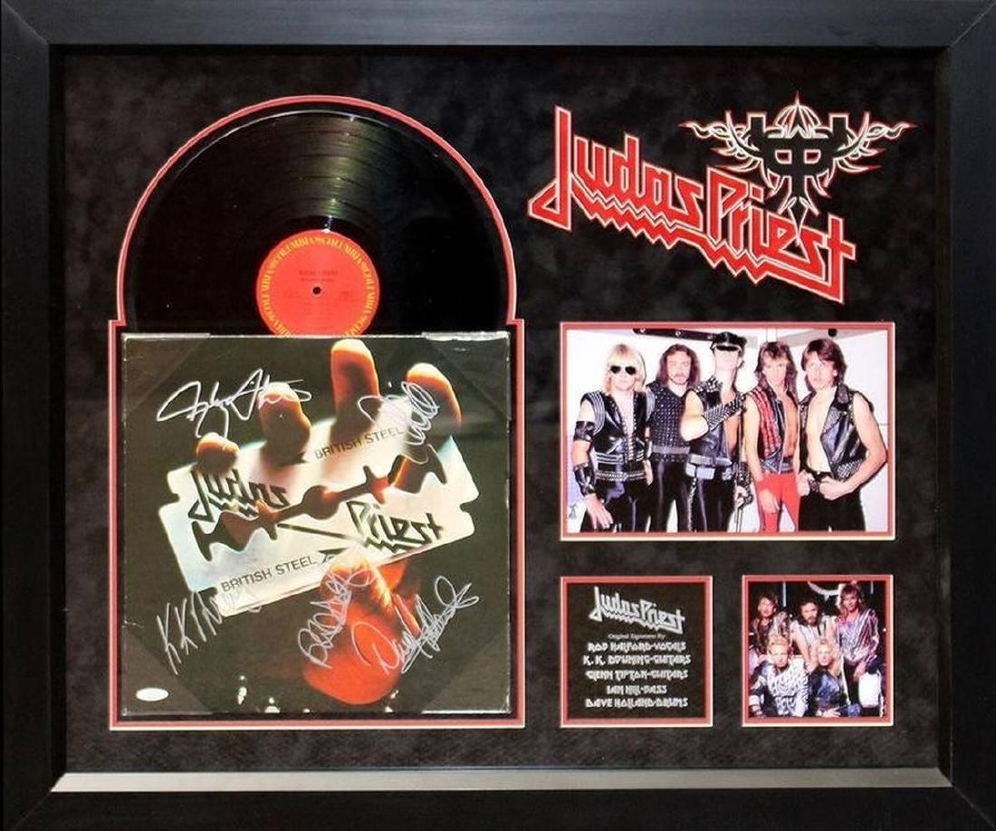 """Judas Priest """"British Steel"""" Signed Album"""