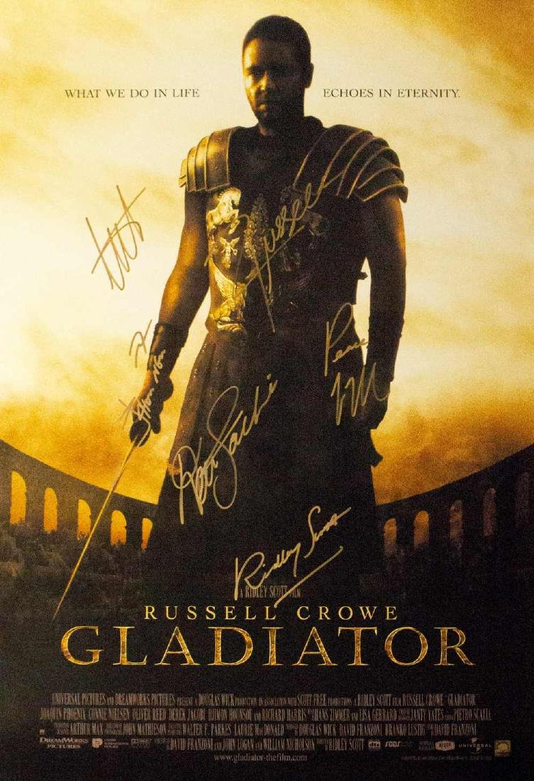 Gladiator -  Signed Movie Poster