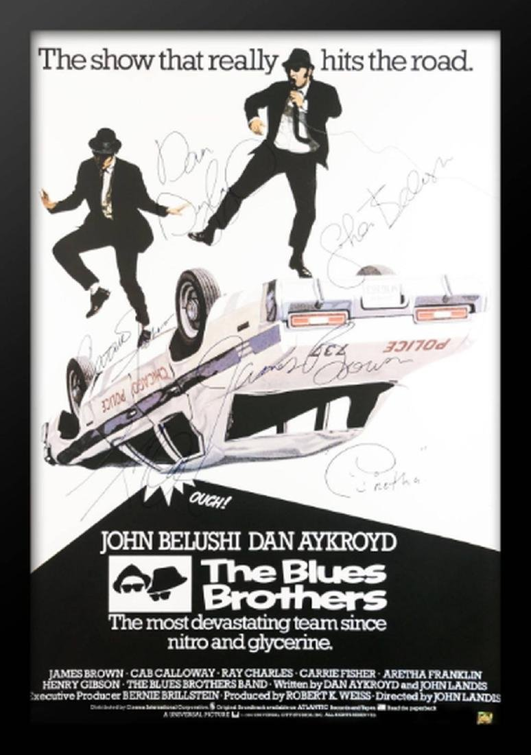 The Blues Brothers - Signed Movie Poster in Wood Frame