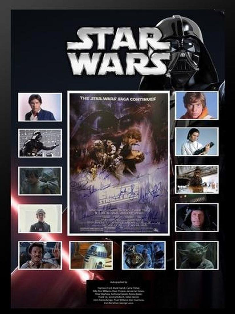 Star Wars - The Empire Strikes Back Cast Signed Collage