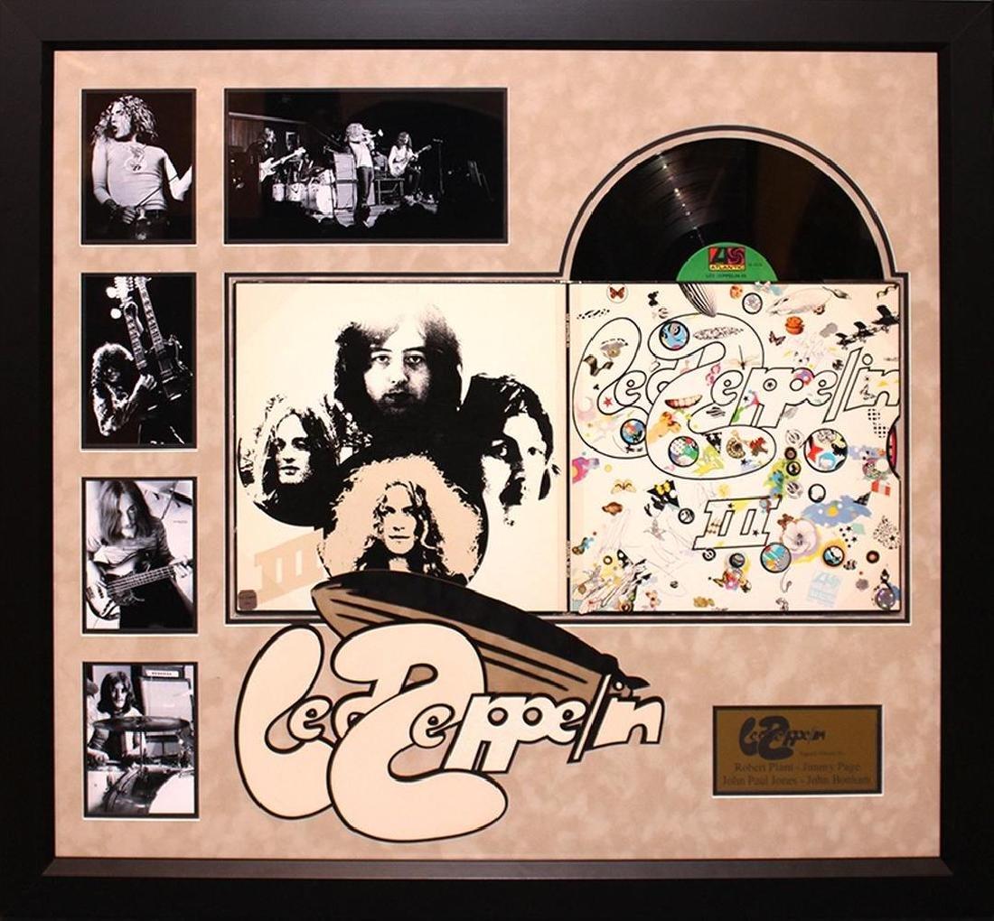 Led Zeppelin 3 Signed Framed Album