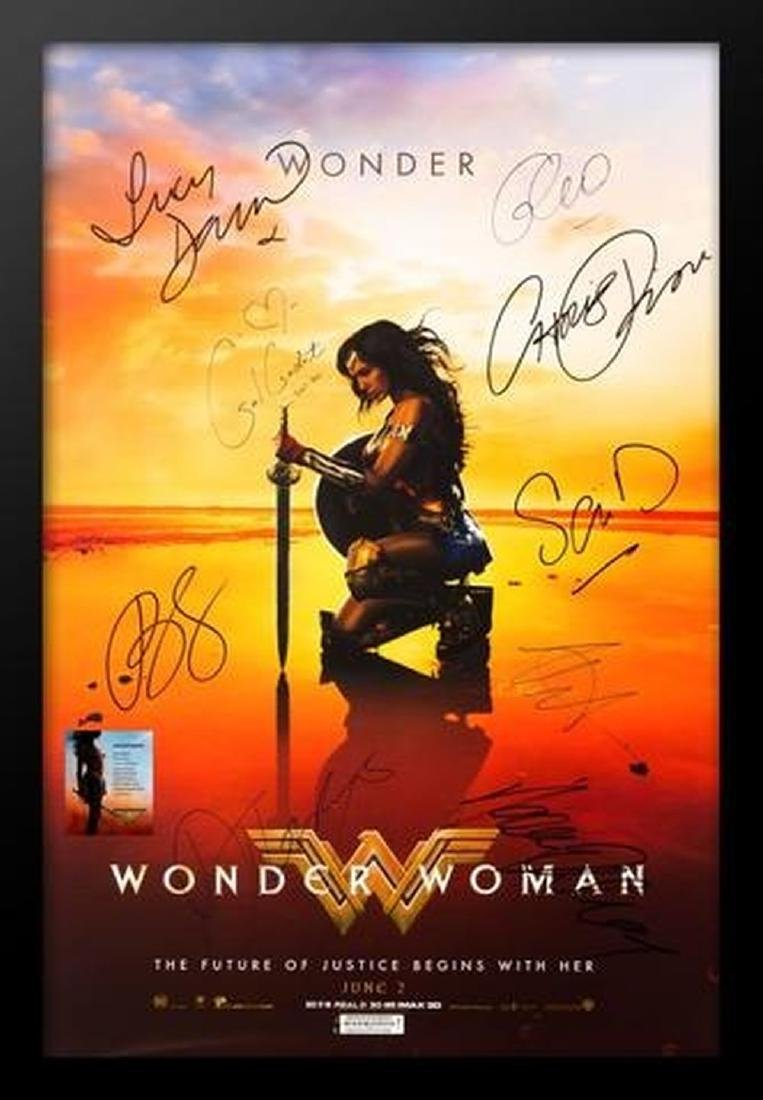 Wonder Woman - Signed Movie Poster