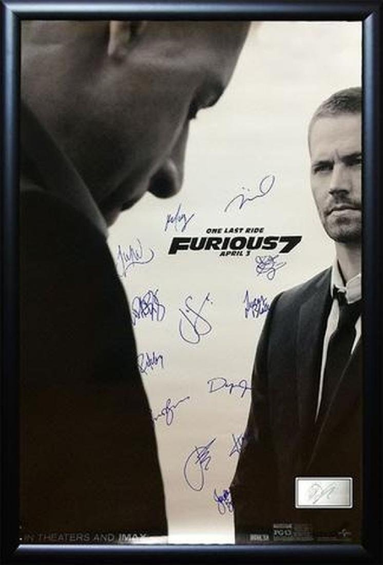 Furious 7 - Signed Movie Poster