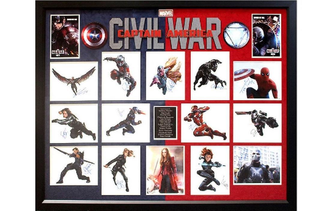 Captain America - Civil War Cast Signed Photo Collage