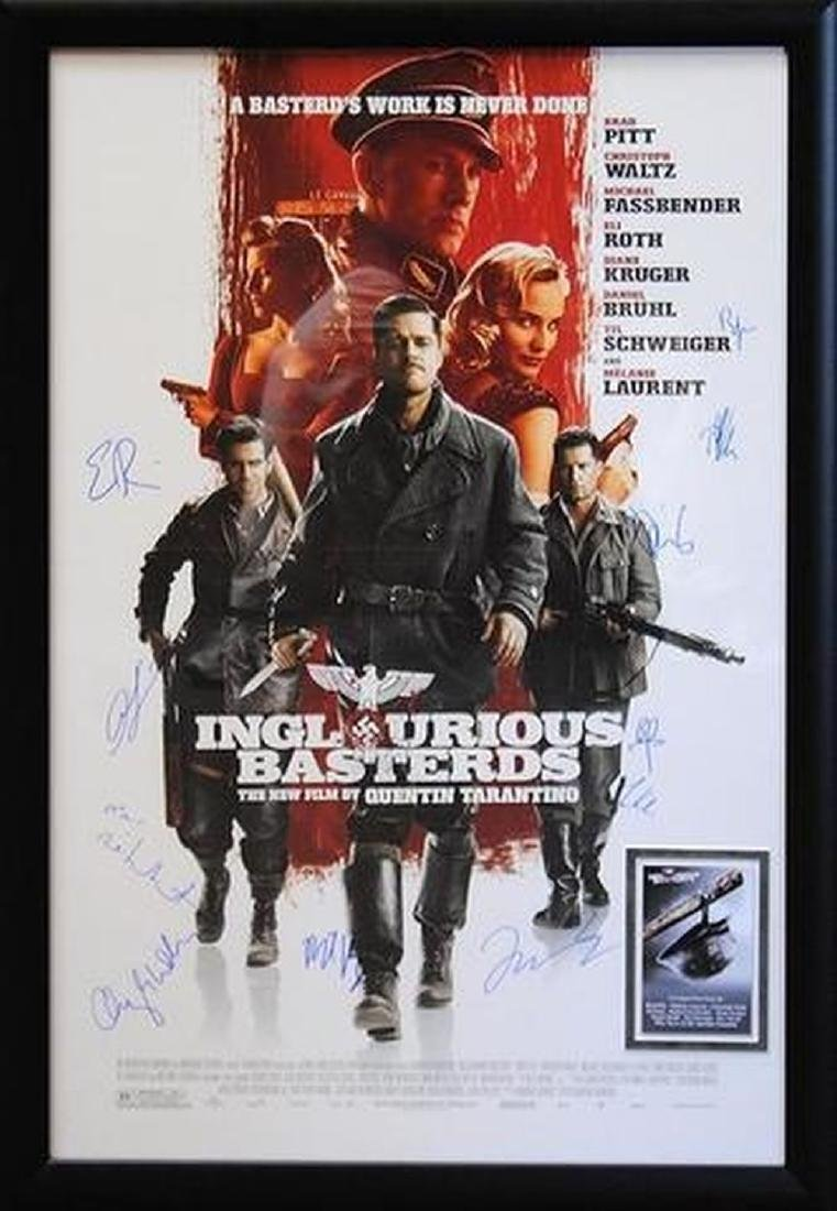 Inglorious Basterds - Signed Movie Poster