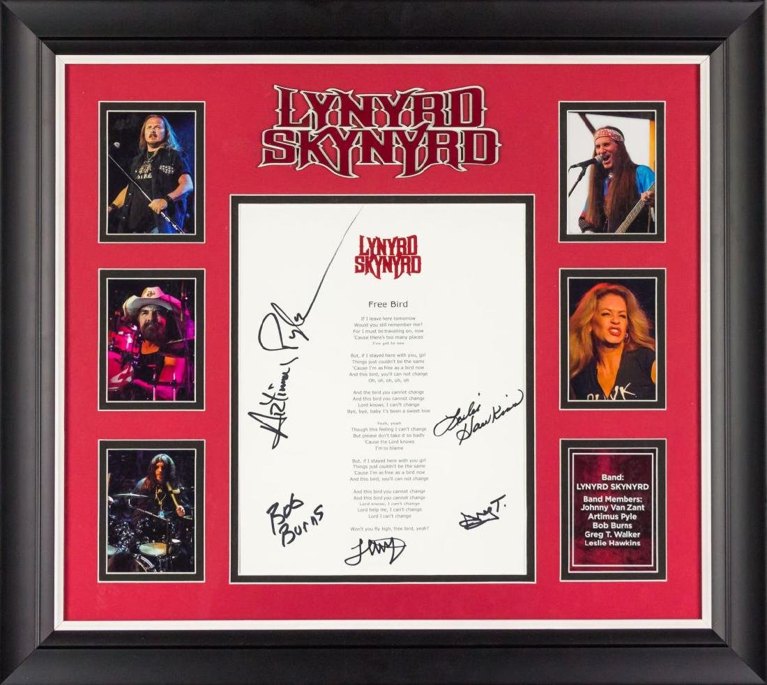Lynyrd Skynyrd Free Bird Signed Lyrics