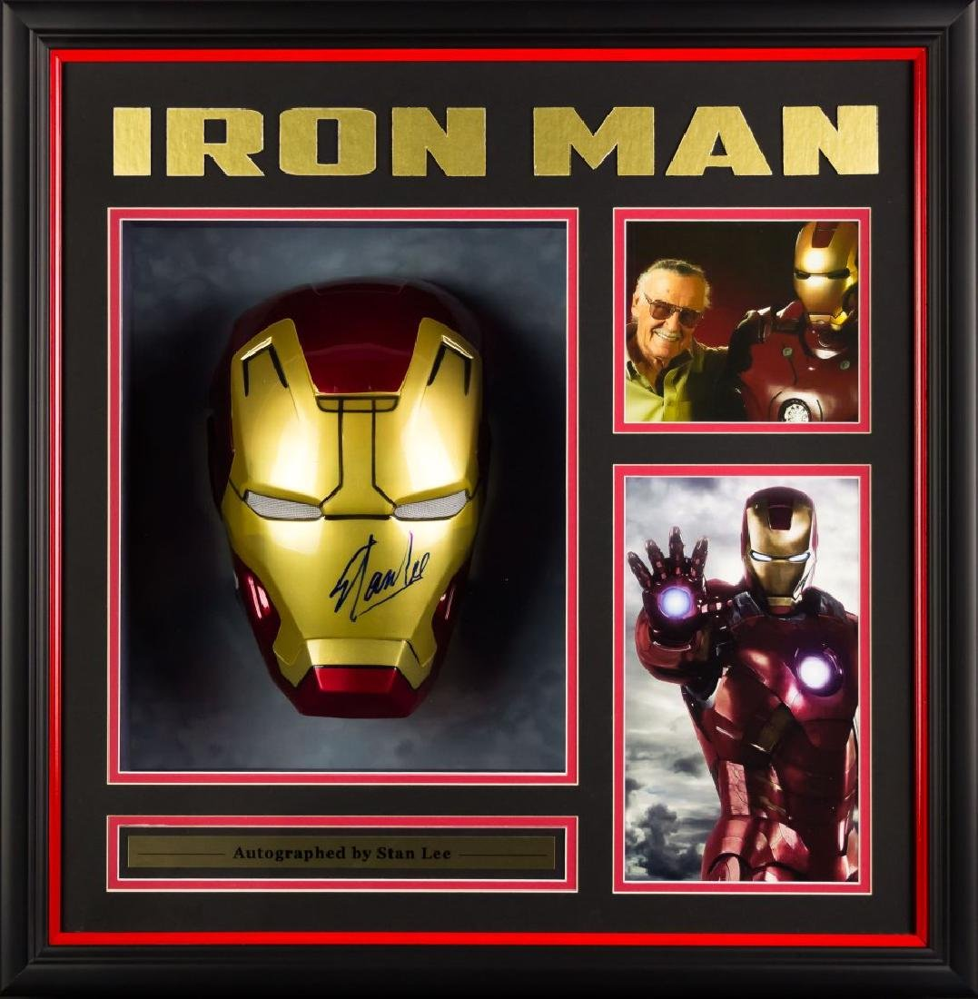Iron Man Mask- Signed Collage