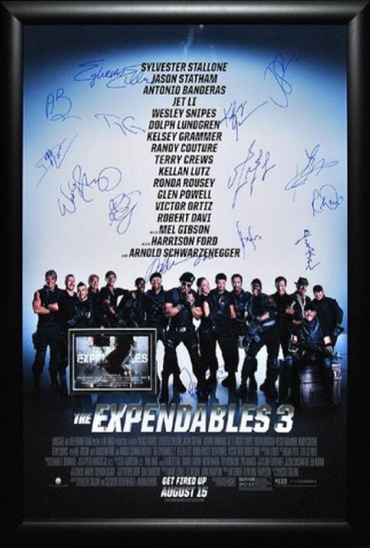 Expendables 3 -  Signed Movie Poster