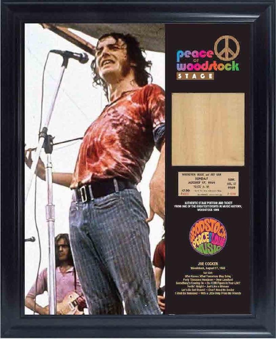 Actual Woodstock Stage - Joe Cocker