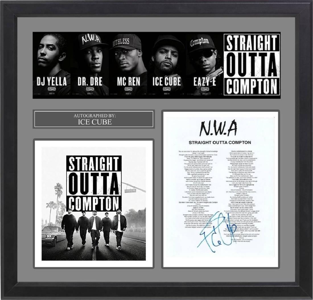 NWA Signed Lyrics Straight Outta Compton