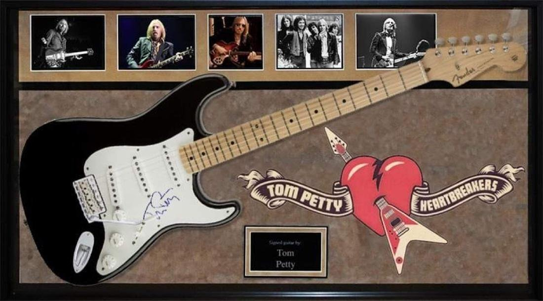 Tom Petty Signed and Framed Guitar