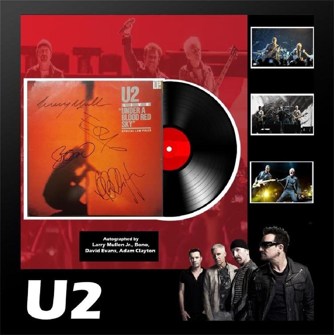 Signed U2 Under A Blood Red Sky Album