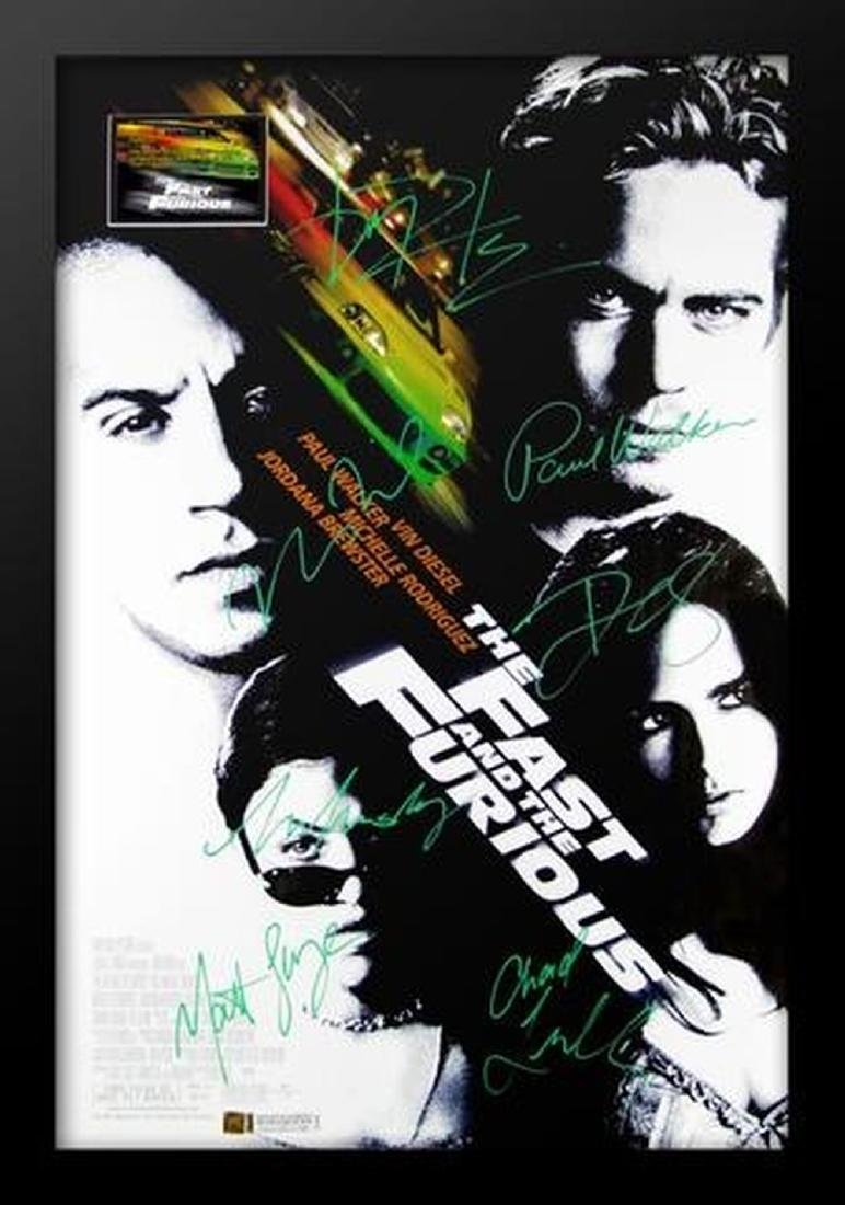 Fast and The Furious - Signed Movie Poster