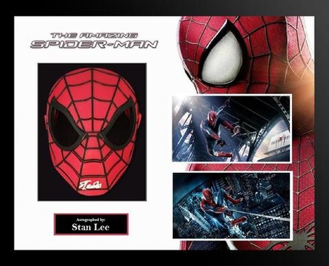 Amazing Spider-Man signed Mask Collage