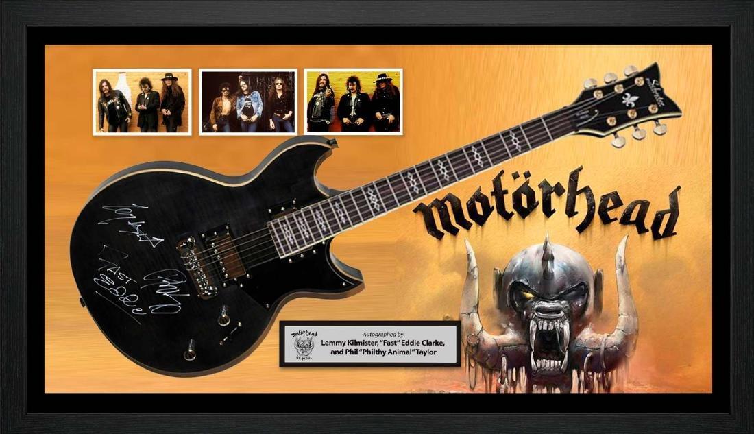 Motorhead Signed and Framed Guitar