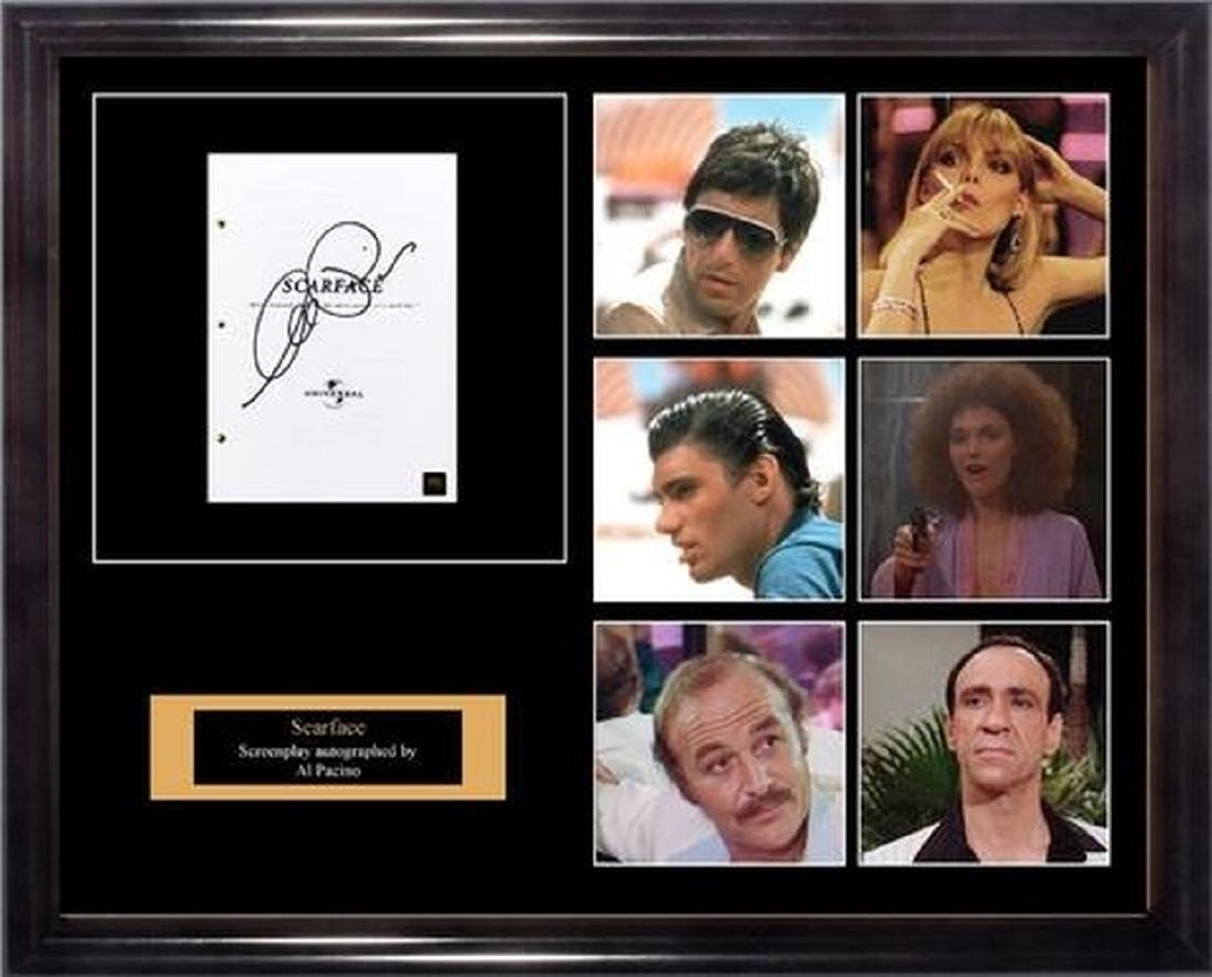 Scarface - Signed Movie Script in Photo Collage Frame