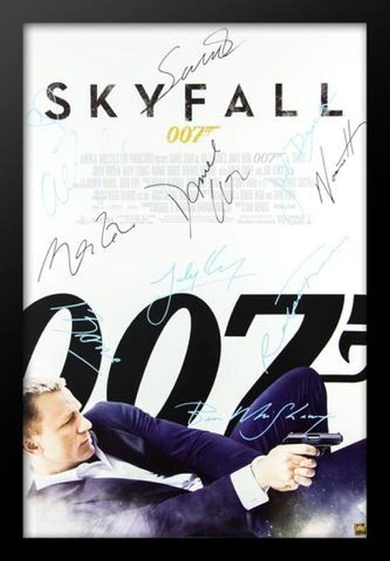 James Bond: Skyfall - Signed Movie Poster
