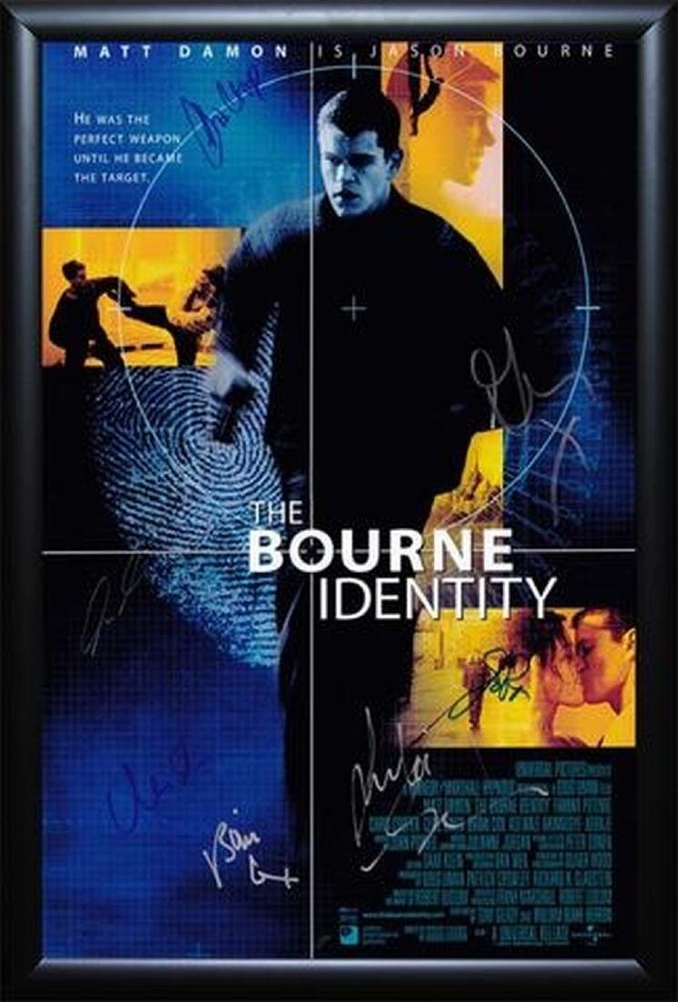 Bourne Identity - Signed Movie Poster