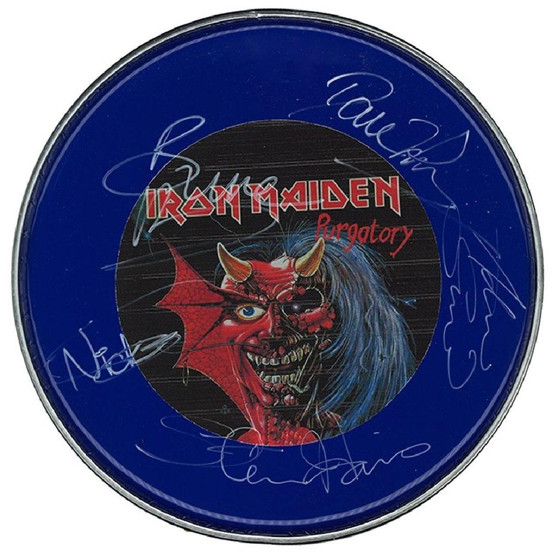 Iron Maiden Signed Drum Head