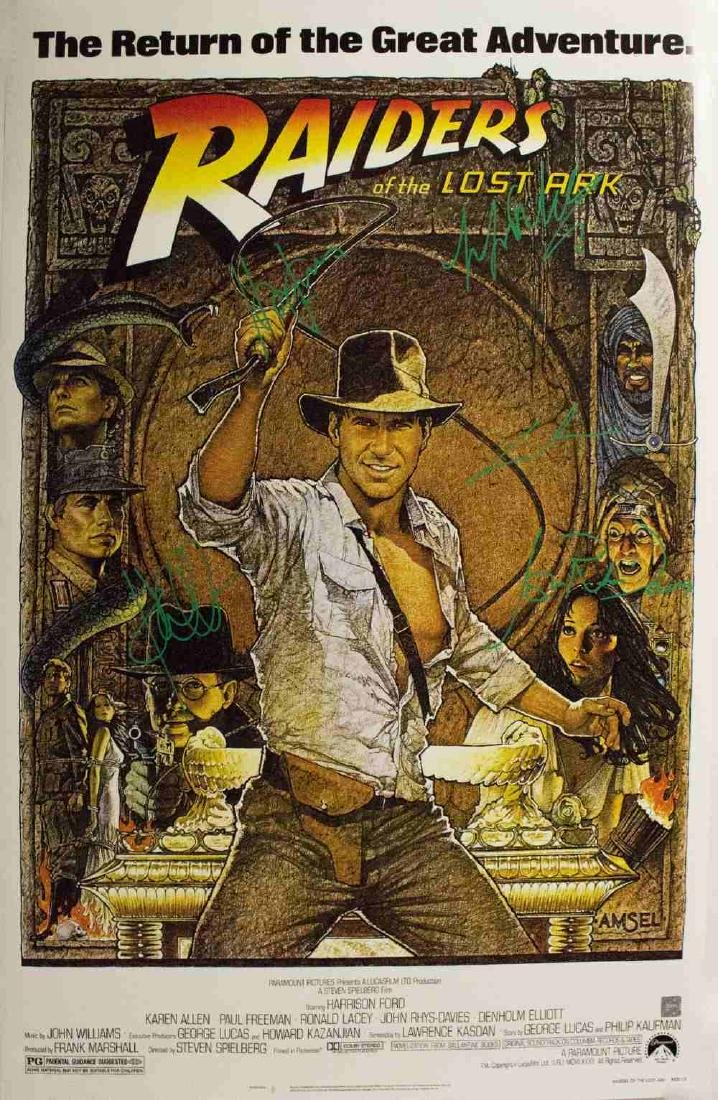 Indiana Jones and the Raiders of the Lost Ark - Signed