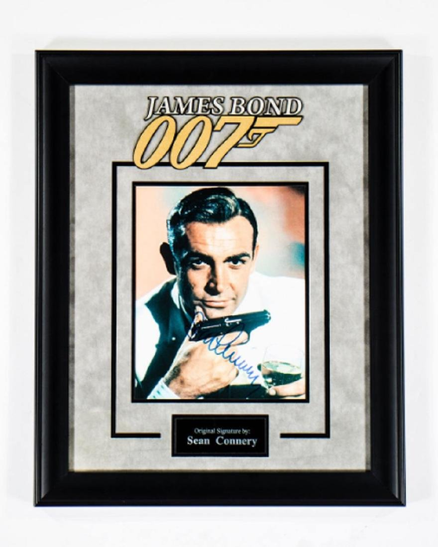 James Bond 007 - Signed by Sean Connery - Framed Artist