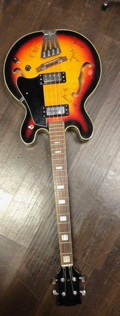 Jimi Hendrix Experience Signed Bass Guitar