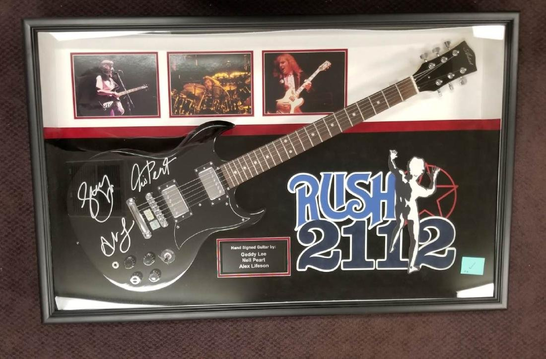 Rush 2112 Signed Guitar