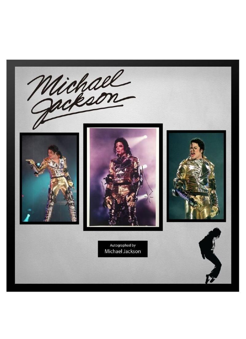 Michael Jackson Signed Photo Collage
