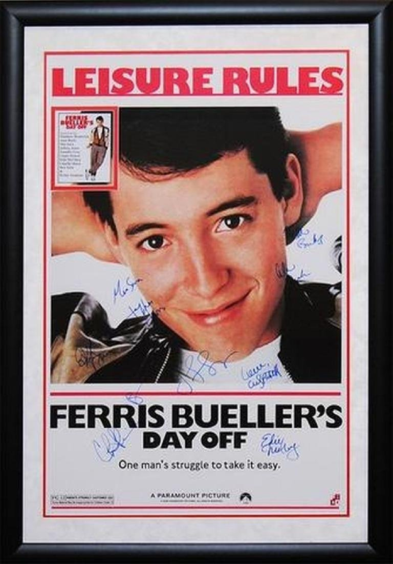 Ferris Bueller's Day Off - Signed Movie Poster