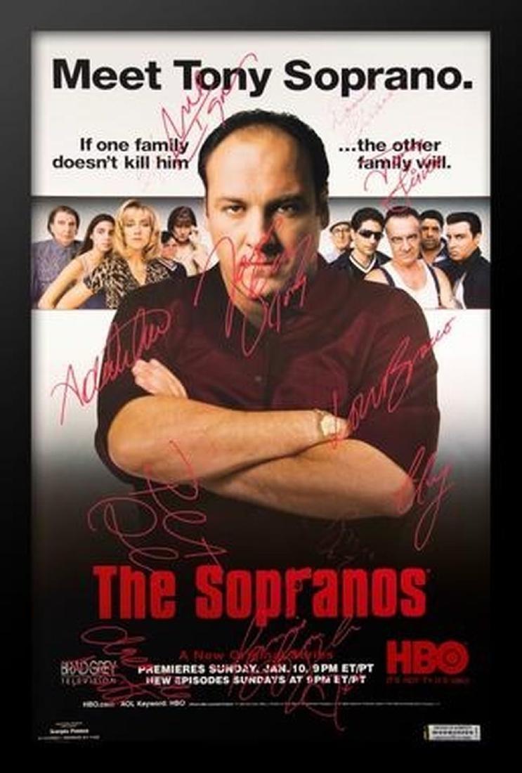 Sopranos -  Signed TV Series Poster