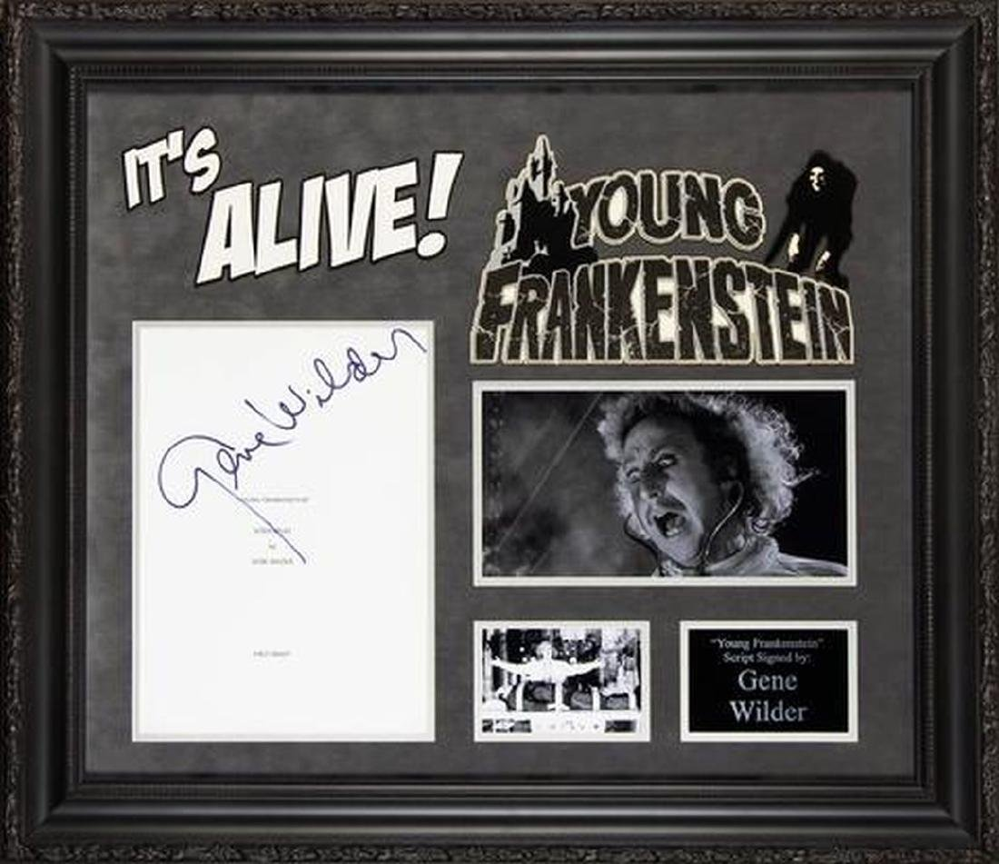 Young Frankenstein - Signed Movie Script in Photo