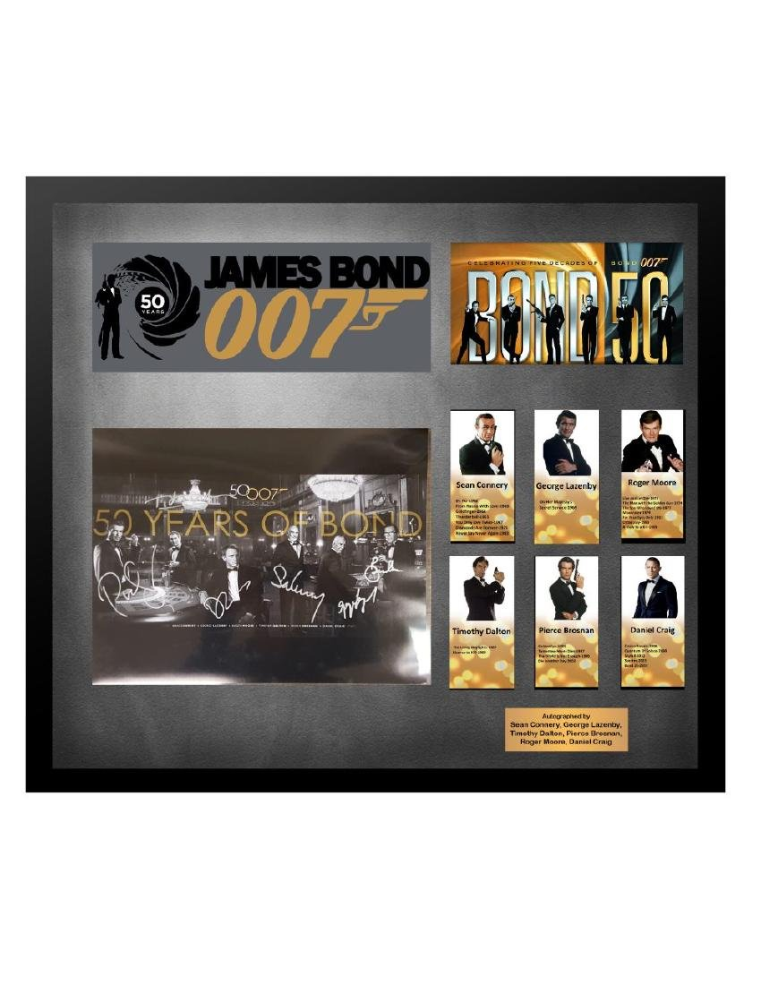 50 Years of James Bond Collage