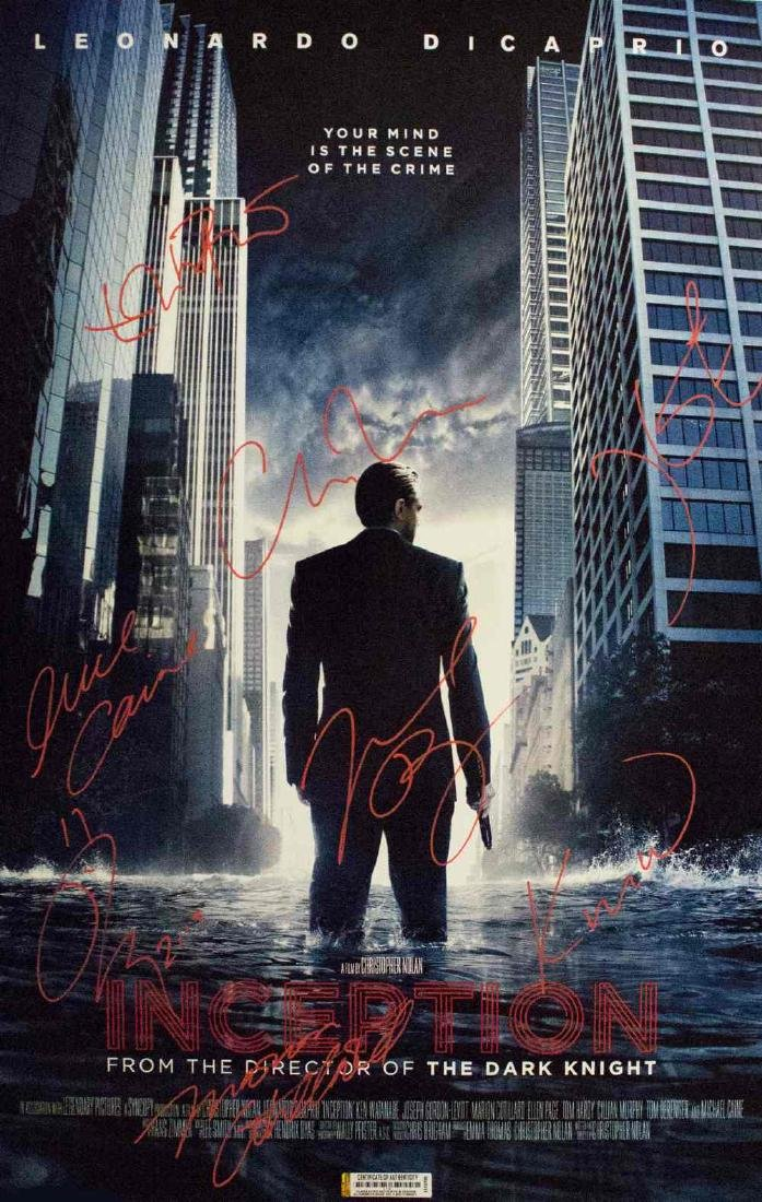 Inception – Signed Movie Poster