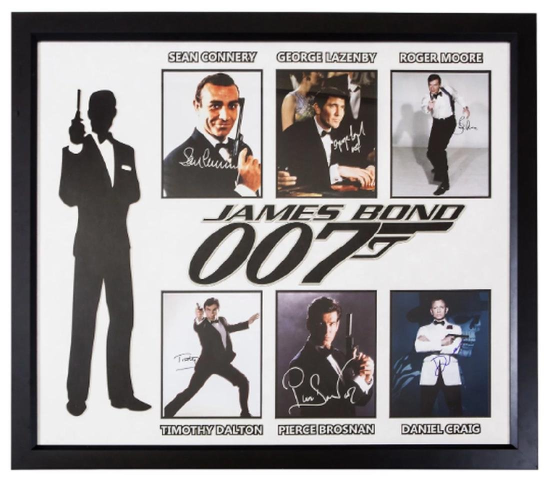 James Bond – 6-Photo Autographed Collage Poster Signed