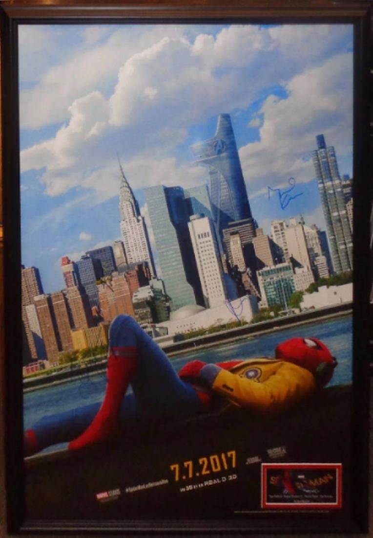 Spider-Man Homecoming Signed Movie Poster Wood Framed