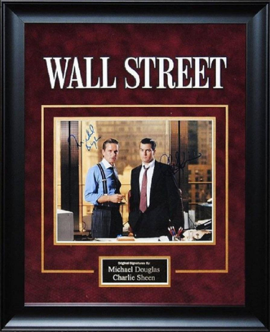 Wall Street- Signed by Charlie Sheen and Michael