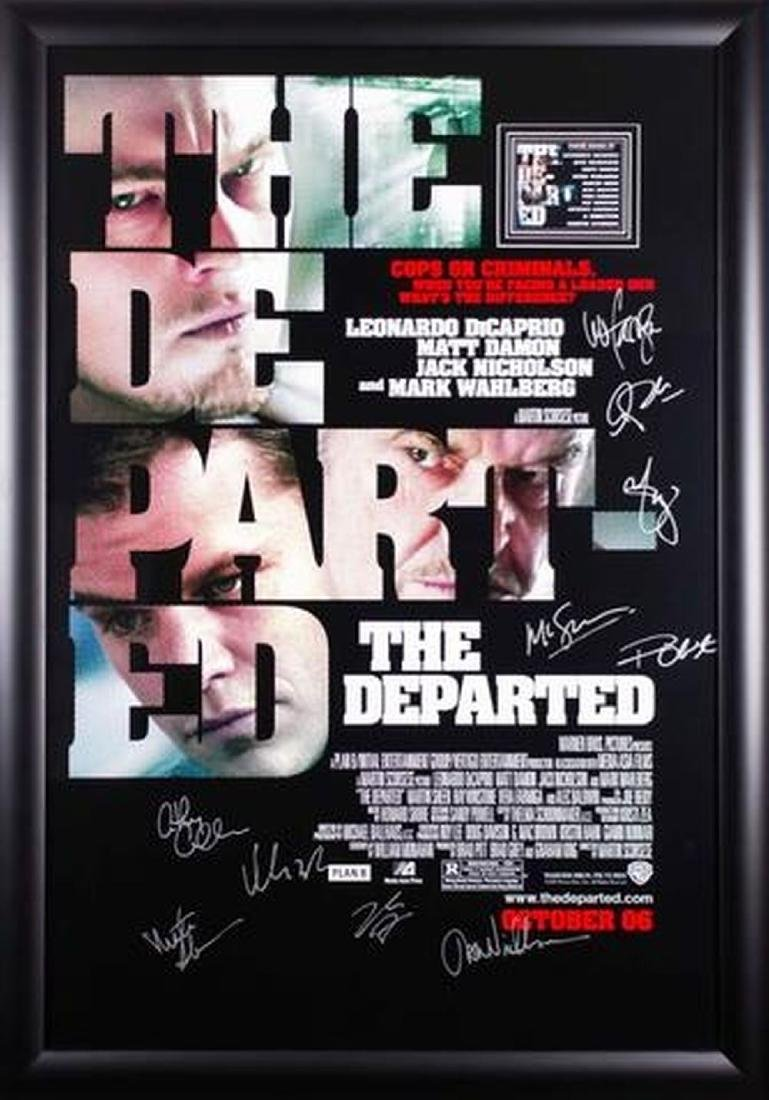 The Departed - Signed Movie Poster