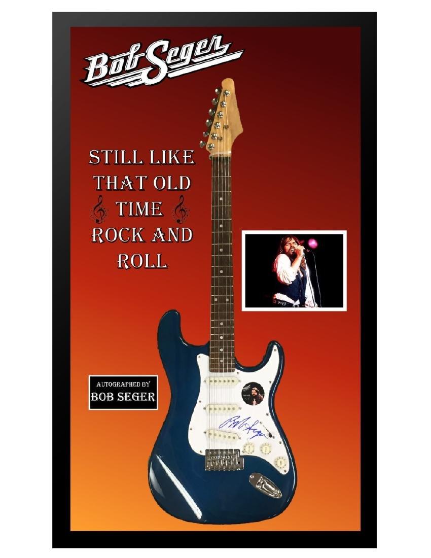 Bob Seger Signed & Framed Guitar