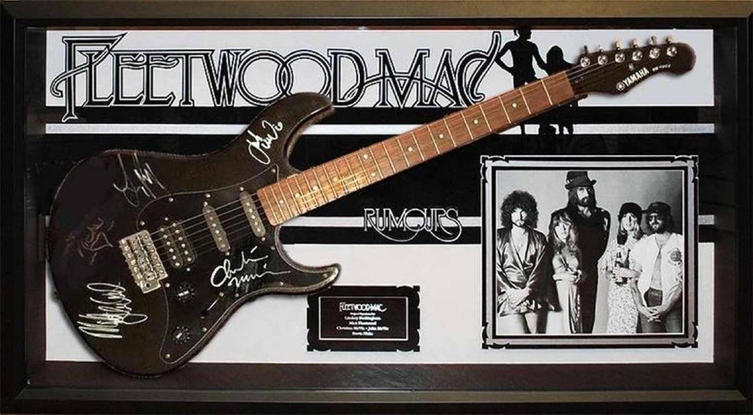 Fleetwood Mac Signed and Framed Guitar