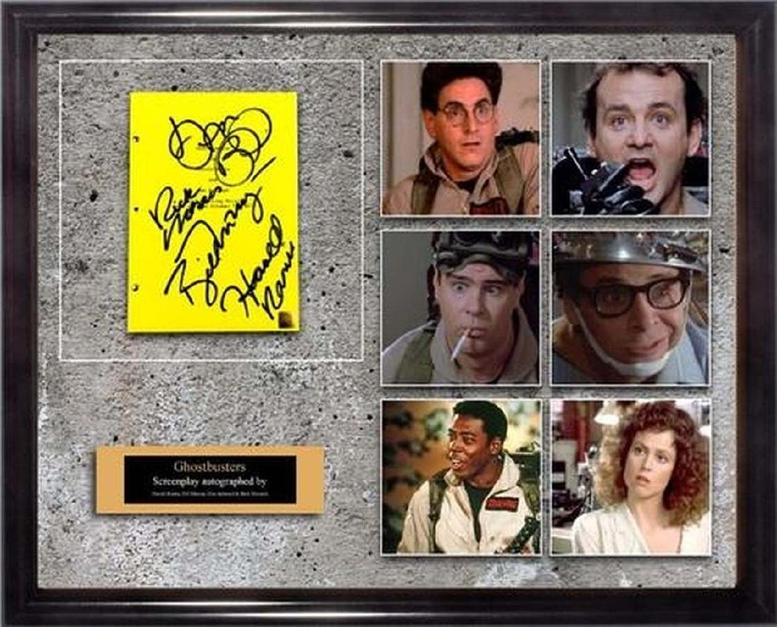 Ghostbusters - Signed Movie Script in Photo Collage