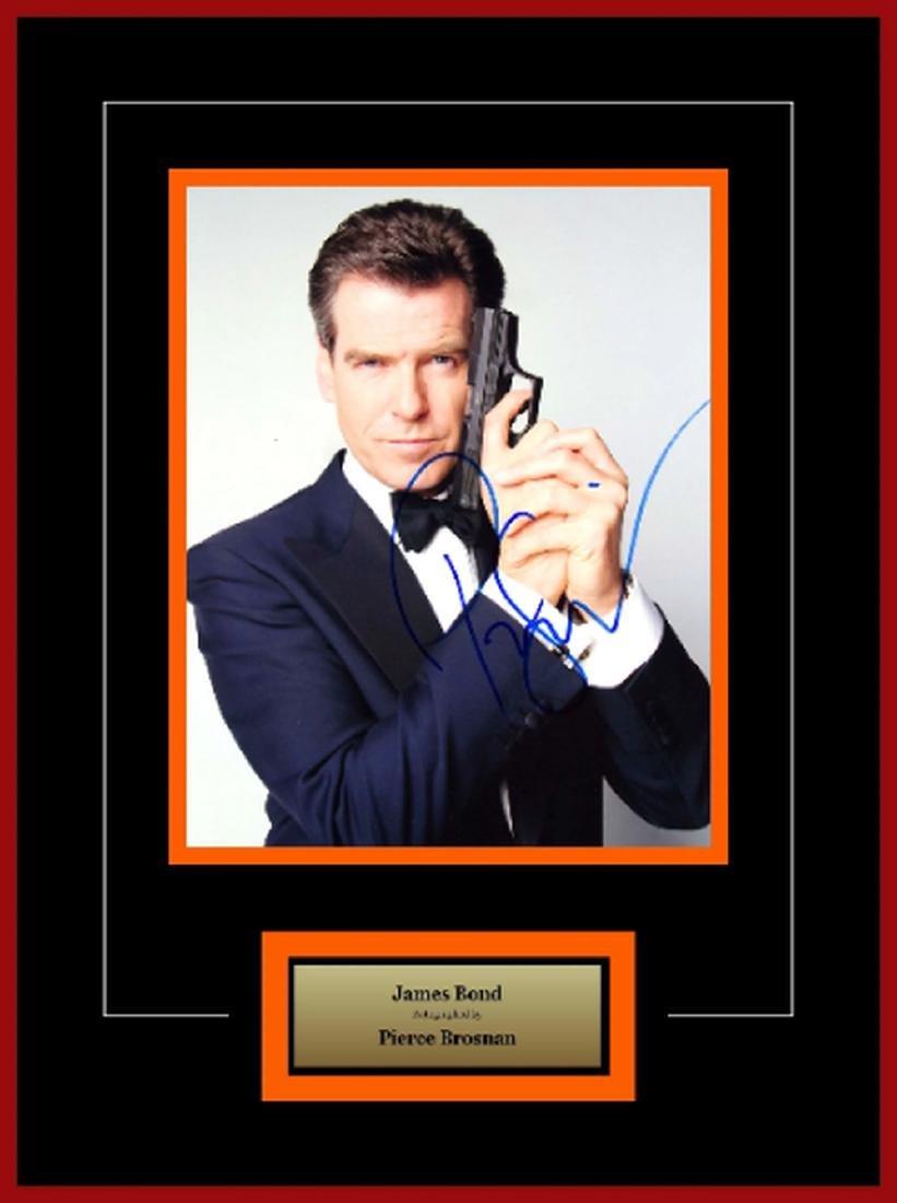James Bond - Signed by Pierce Brosnan - Framed Artist