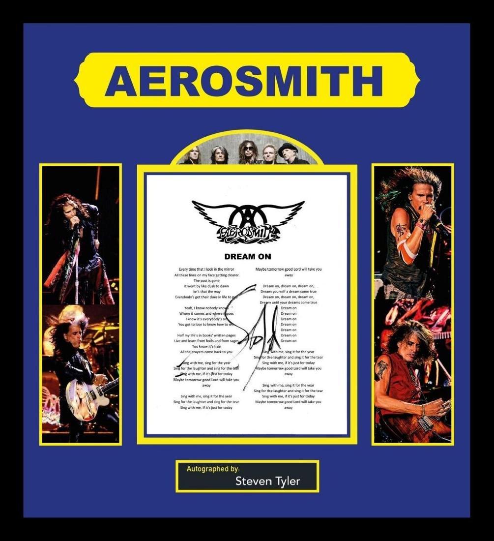 Aerosmith Dream On Signed Lyrics