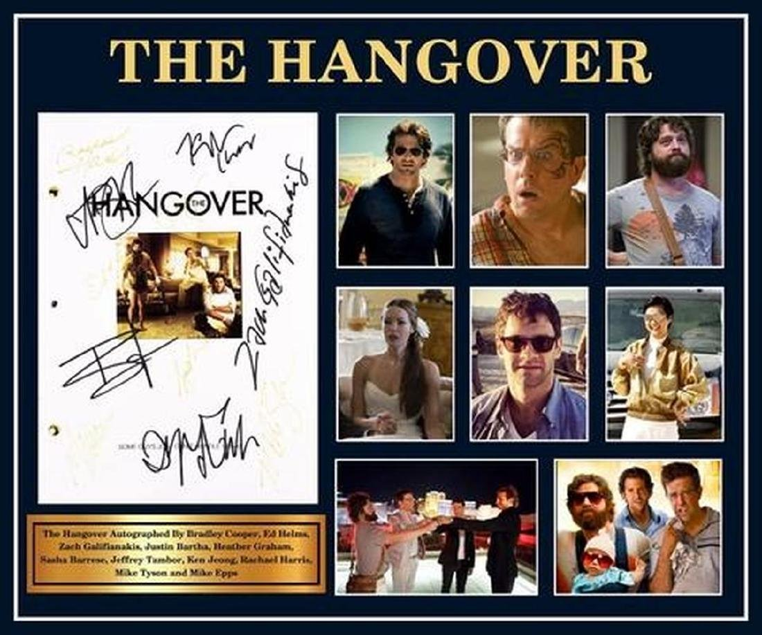 Hangover - Signed Movie Script in Photo Collage Frame