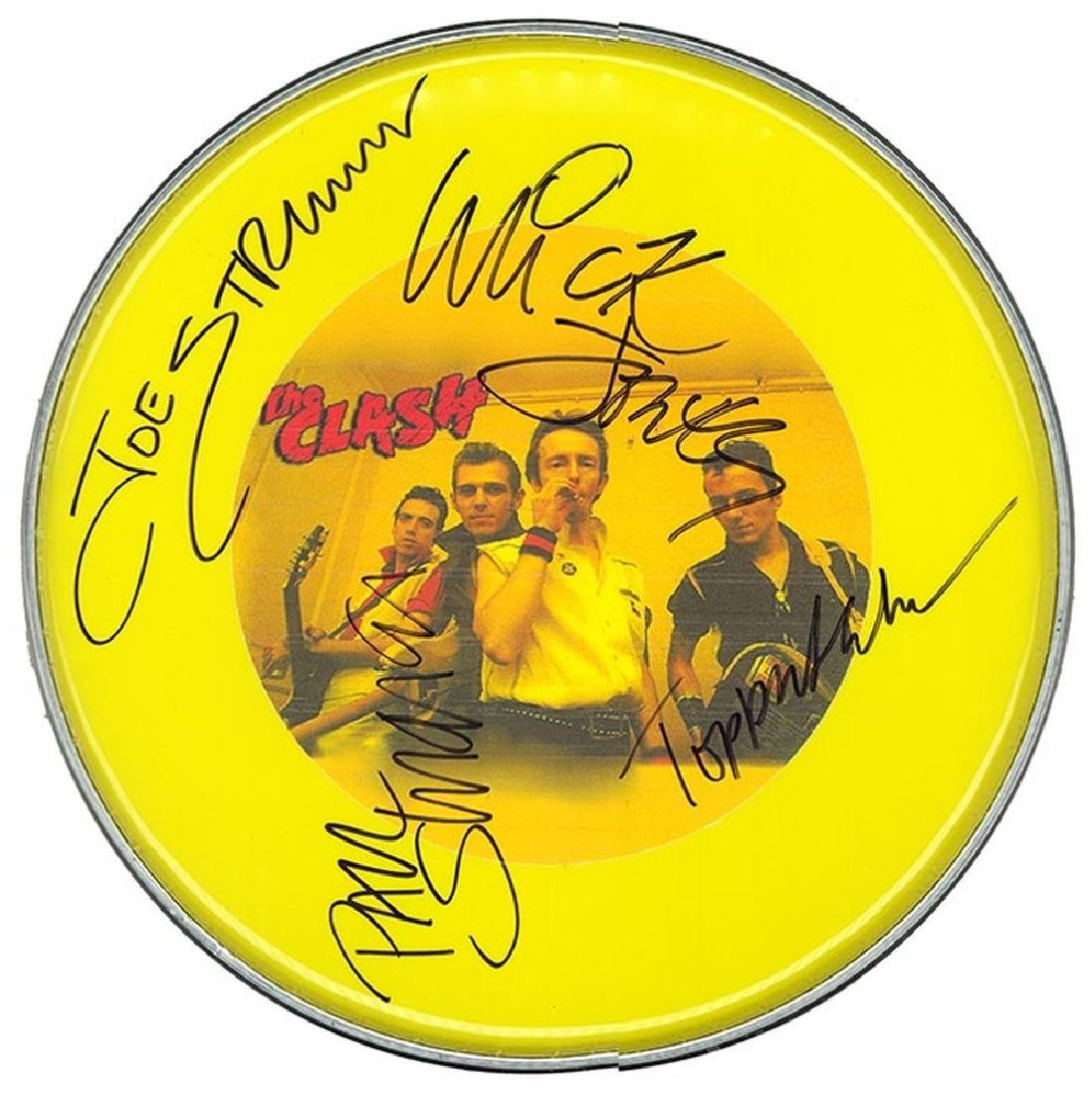 Clash Signed Drum Head