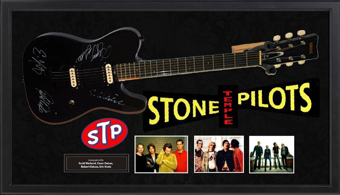 Stone Temple Pilots Signed and Framed Guitar