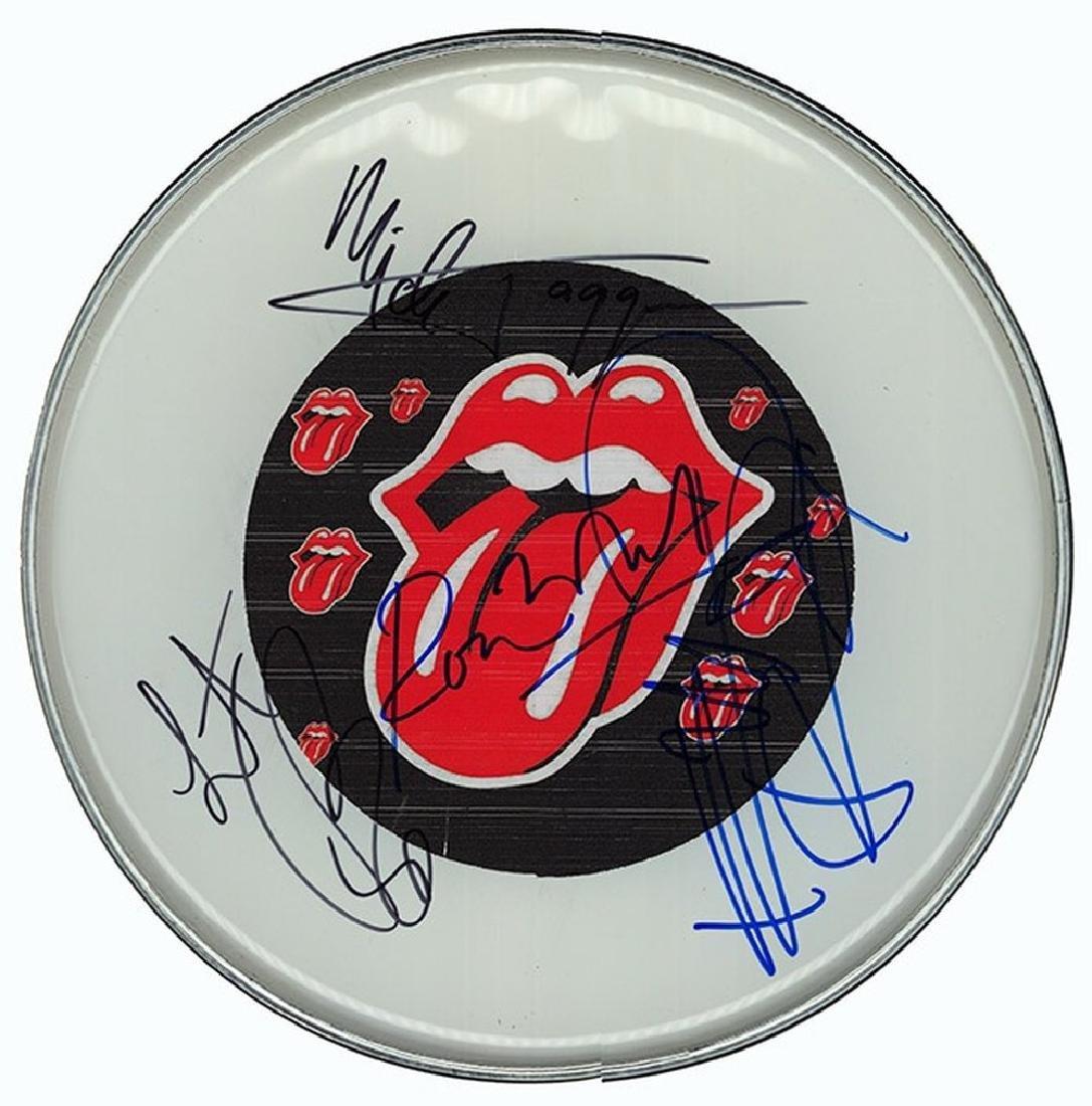 Rolling Stones Signed Drum Head
