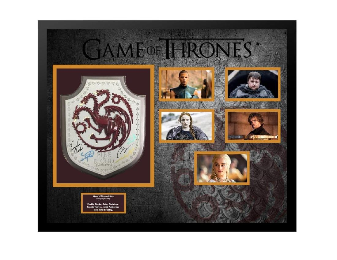 Game of Thrones Autographed Shield Collage